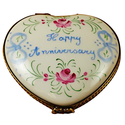 Limoges Imports Happy Anniversary Heart-50Th Limoges Box