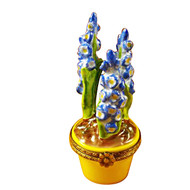 Limoges Imports Blue Flower /Yellow Pot Limoges Box
