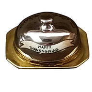 Limoges Imports Turkey Under Chrome - Happy Thanksgiving Limoges Box