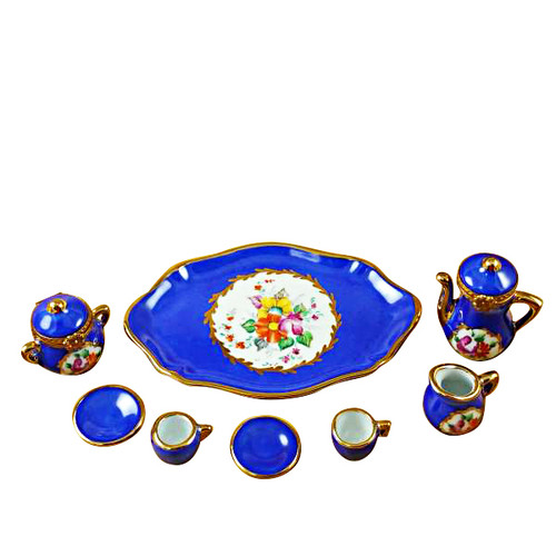 Limoges Imports Cobalt Blue 8 Piece Tea Set Limoges Box