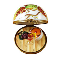 Limoges Imports Grape Cheese Dome Limoges Box