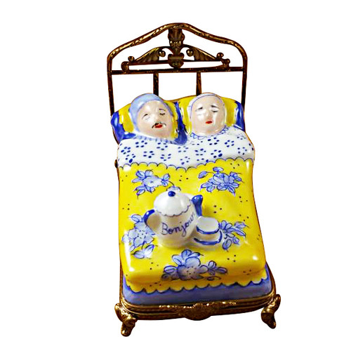 Limoges Imports Couple In Bed Limoges Box