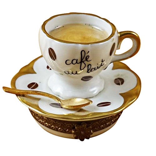 Limoges Imports Coffee Cup On Saucer Limoges Box