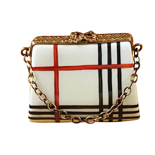 Limoges Imports Burberry Purse Limoges Box