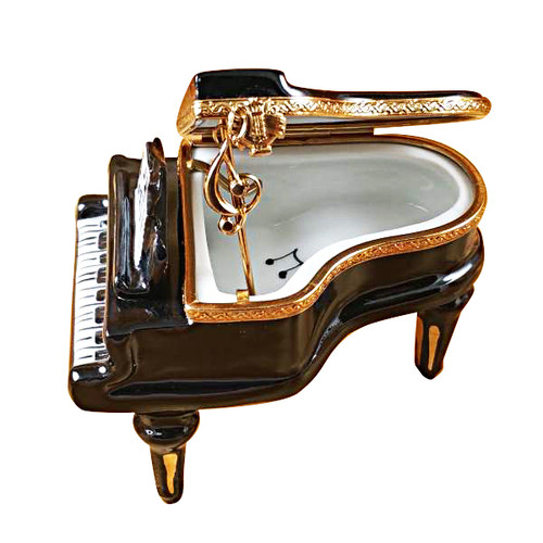 Limoges Imports Black Piano Limoges Box