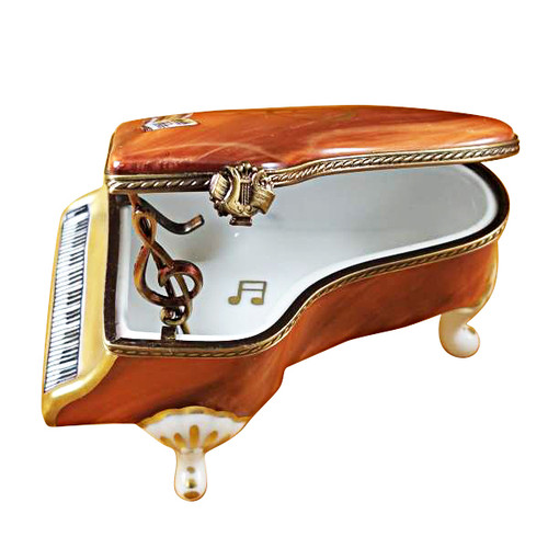Limoges Imports Large Brown Piano Limoges Box
