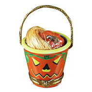 Limoges Imports Pumpkin In Pail Limoges Box