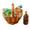 Limoges Imports Picnic Basket W/Bottle Limoges Box
