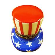Limoges Imports Uncle Sams Hat Limoges Box