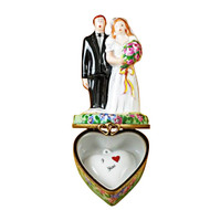 Limoges Imports Bride & Groom On Flowered Base Limoges Box