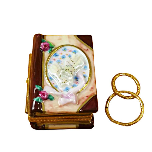 Limoges Imports Wedding Book W/Rings Limoges Box