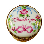 Limoges Imports Thank You Round Box Limoges Box