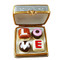 Limoges Imports Square Box W/Chocolates Limoges Box