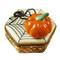 Limoges Imports Pumpkin W/Spider Limoges Box