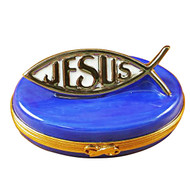 Limoges Imports Fish With Jesus Limoges Box