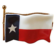 Limoges Imports Texas Flag Limoges Box