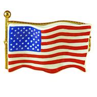 Limoges Imports United States Flag Limoges Box