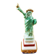 Limoges Imports Green Statue Of Liberty Limoges Box
