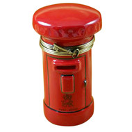 Limoges Imports Red English Post Box Limoges Box