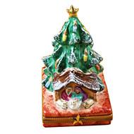 Limoges Imports Tree W/Manger Limoges Box