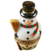 Limoges Imports 3 Stacking Snowmen Limoges Box