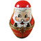 Limoges Imports 3 Stacking European Santas Limoges Box