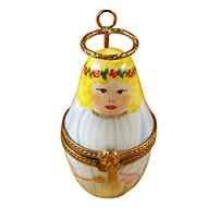 Limoges Imports Angel W/Halo Limoges Box