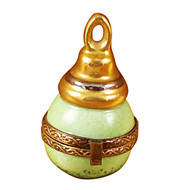 Limoges Imports Green Christmas Ornament Limoges Box