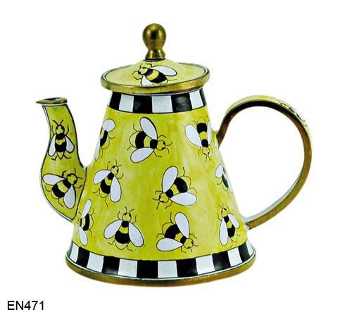EN471 Kelvin Chen Bumblebees Enamel Teapot