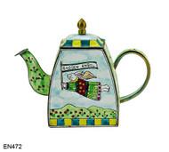 EN472 Kelvin Chen Garden Angel Enamel Teapot