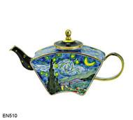 EN510 Kelvin Chen Vincent Van Gogh Starry Night Enamel Teapot