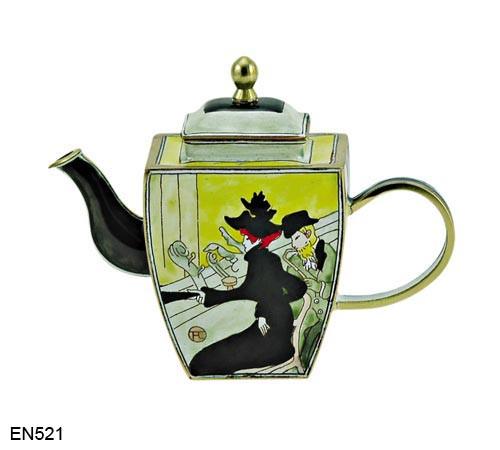 EN521 Kelvin Chen Henri de Toulouse-Lautrec Divan Japonais Enamel Teapot