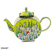 ENK457 Kelvin Chen Fairy Enamel Hinged Teapot