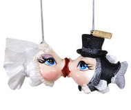 Katherine's Collection Getting Hooked Magnetic Bride & Groom Kissing Fish