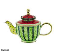 ENK639 Kelvin Chen Watermelon Enamel Hinged Teapot