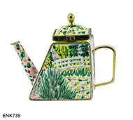 ENK739 Kelvin Chen Monet The Waterlily Pond Musee D'Orsay, Paris Enamel Hinged Teapot