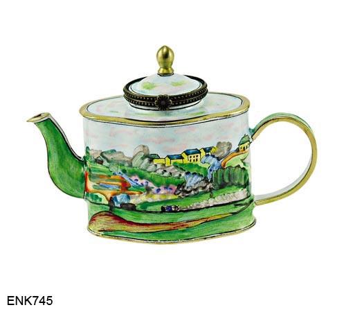 KELVIN CHEN Enamel Mini Hand Paint Copper Teapot Big Ladybug