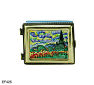 EF425 Kelvin Chen Vincent Van Gogh Wheat Field Master Painting Enamel Hinged Box