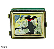 EF521 Kelvin Chen Vincent Van Gogh Landscape with Houses Master Painting Enamel Hinged Box