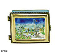 EF542 Kelvin Chen Monet Garden at St. Address Master Painting Enamel Hinged Box