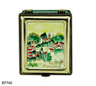 EF740 Kelvin Chen Paul Cezanne Village of Gardanne Master Painting Enamel Hinged Box