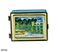 EF742 Kelvin Chen Monet River Master Painting Enamel Hinged Box