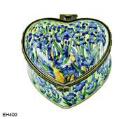 EH400 Kelvin Chen Vincent Van Gogh Iris Field  Enamel Hinged Box
