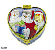 EH508 Kelvin Chen Three Cats Singing Enamel Hinged Box