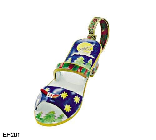 EH201 Kelvin Chen Reindeer Design Enamel Shoe