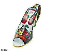 EH202 Kelvin Chen Santa Design Enamel Shoe