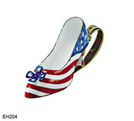 EH204 Kelvin Chen Patriotic Design Enamel Shoe
