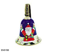 EN515B Kelvin Chen Santa with Toys Bell Enamel Ornament