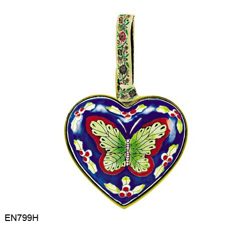 EN799H Kelvin Chen Butterfly Heart Enamel Ornament