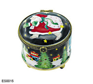 ES0015 Kelvin Chen Santa with Bag of Gifts Stamp Box